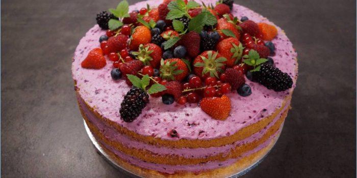 Beeren Naked Cake Sabrinas Backvergnugen