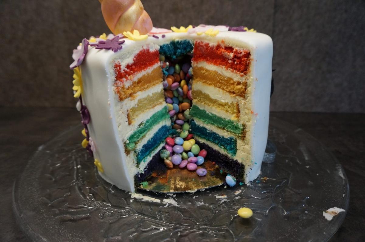 Einhorntorte Rainbow Surprise Cake Sabrinas Backvergnugen