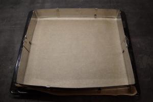 1) Backblech mit Backrahmen vorbereiten