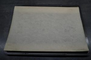 3) Ein Backblech mit Backpapier belegen, Ofen vorheizen