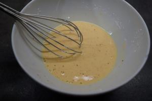 6) Alles in einem Top erhitzen und zu einem Pudding aufkochen