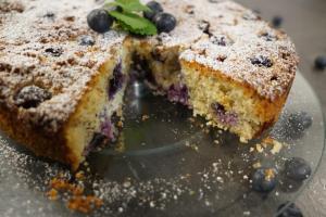 Gesunder Heidelbeer-Kuchen