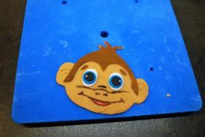 14) Affen ausschneiden & alles zusammen kleben
