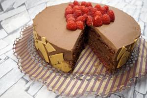 24) Bild vom Anschnitt der Torte