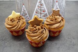 Vanille-Zimt-Spekulatius Cupcakes