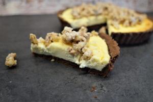 Cheesecake mit karamellisierten Walnüssen