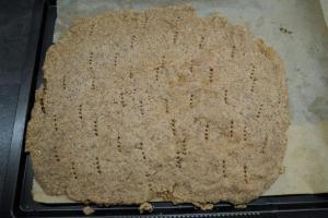 3) Bei 170°C 5 Min. vorbacken