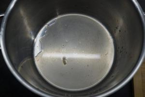 6) Saft der Zitrone in eine Schüssel geben