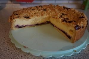 8) Kuchen von Innen, wer möchte kann den Kuchen noch mit Puderzucker einstäuben
