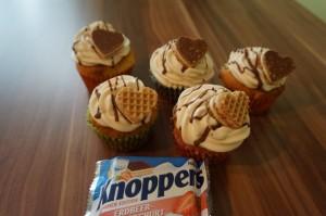 Erdbeer-Joghurt Cupcakes (Knoppers)