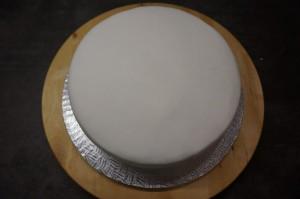 12) Auf die große Torte die kleine Springform aufstellen...