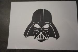 8) Schablone ausdrucken